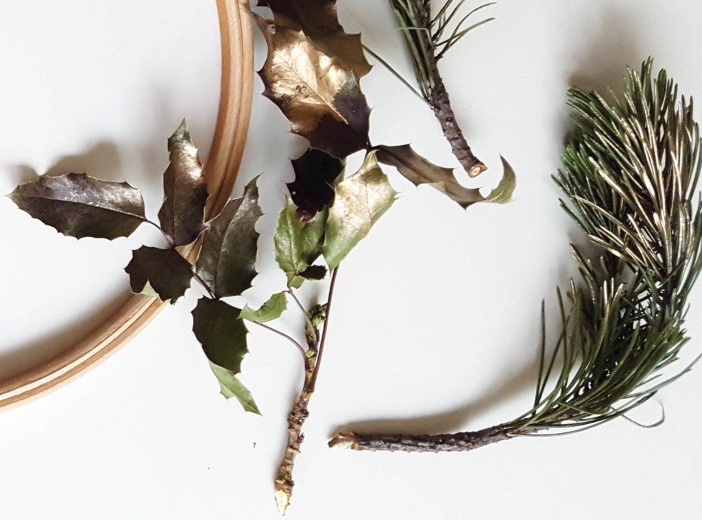 DIY Winterdeko: Ein weihnachtlicher Kranz aus Naturmaterialien